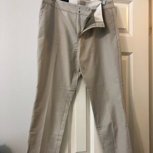 Khaki banana republic crop pants